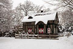 σπίτι χιονώδες Στοκ εικόνες με δικαίωμα ελεύθερης χρήσης