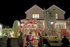 Σπίτι Χριστουγέννων στο Μπρούκλιν Νέα Υόρκη Στοκ εικόνα με δικαίωμα ελεύθερης χρήσης