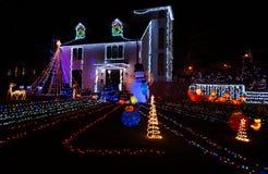 Σπίτι Χριστουγέννων στο Washington DC τη νύχτα στοκ εικόνες