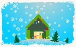 σπίτι Χριστουγέννων Στοκ φωτογραφίες με δικαίωμα ελεύθερης χρήσης
