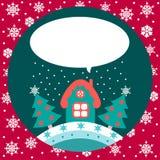 Σπίτι Χριστουγέννων Στοκ φωτογραφία με δικαίωμα ελεύθερης χρήσης