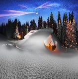 Σπίτι Χριστουγέννων Carpathians στοκ φωτογραφίες με δικαίωμα ελεύθερης χρήσης