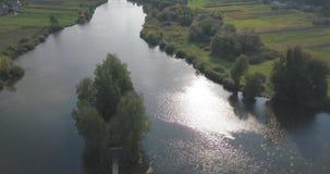 Σπίτι ψαρά στην Ουκρανία απόθεμα βίντεο