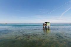 Σπίτι ψαράδων σε Pellestrina, ένα νησί της ενετικής λιμνοθάλασσας Στοκ φωτογραφία με δικαίωμα ελεύθερης χρήσης
