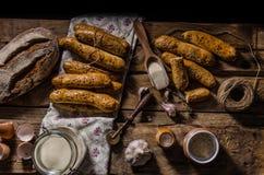 Σπίτι-ψημένα ραβδιά ψωμιού Στοκ Φωτογραφία