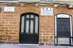 Σπίτι όπου γεννημένος ο ισπανικός συνθέτης Manuel de Falla σε 23 Nove στοκ φωτογραφία