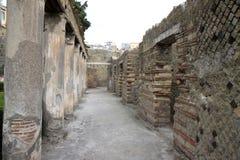 Σπίτι Argus στο αρχαίο ρωμαϊκό Herculaneum, Ιταλία Στοκ Φωτογραφία