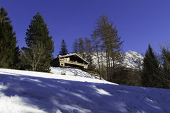 Σπίτι Dolomiti στοκ φωτογραφίες με δικαίωμα ελεύθερης χρήσης