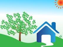 σπίτι eco ανασκόπησης Στοκ εικόνα με δικαίωμα ελεύθερης χρήσης