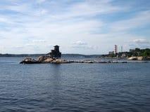 Σπίτι Hobs στο νησί Στοκ Φωτογραφία