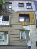 Σπίτι Hundertwasser στη Βιέννη Αυστρία στοκ εικόνες