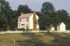 Σπίτι Isbell, εθνικό ιστορικό πάρκο της Βιρτζίνια, περιοχή του τέλους του εμφύλιου πολέμου Στοκ φωτογραφίες με δικαίωμα ελεύθερης χρήσης