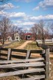 Σπίτι McLean και χωριό Appomattox, Βιρτζίνια Στοκ εικόνα με δικαίωμα ελεύθερης χρήσης