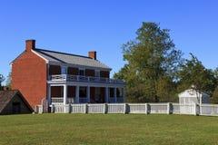 Σπίτι McLean στο σπίτι δικαστηρίου Appomattox Στοκ εικόνα με δικαίωμα ελεύθερης χρήσης