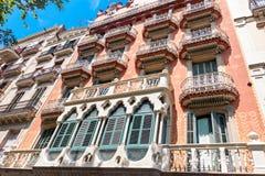 Σπίτι Modernista στη Βαρκελώνη Στοκ φωτογραφία με δικαίωμα ελεύθερης χρήσης