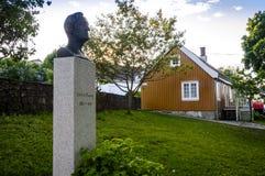 Σπίτι Munch Edvard και το μνημείο του στοκ εικόνες με δικαίωμα ελεύθερης χρήσης