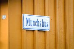 Σπίτι Munch Edvard στοκ φωτογραφία με δικαίωμα ελεύθερης χρήσης
