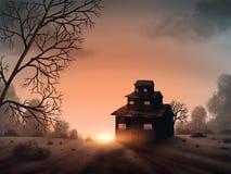 Σπίτι Vista - ψηφιακή ζωγραφική Στοκ φωτογραφίες με δικαίωμα ελεύθερης χρήσης