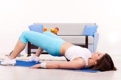 σπίτι workout στοκ εικόνες με δικαίωμα ελεύθερης χρήσης