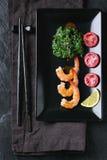 Σπανάκι και γαρίδες Στοκ φωτογραφίες με δικαίωμα ελεύθερης χρήσης