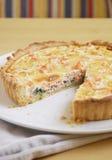 σπανάκι σολομών πίτα στοκ εικόνα με δικαίωμα ελεύθερης χρήσης