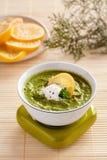 σπανάκι σούπας κρέμας Στοκ Εικόνες