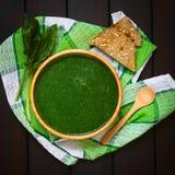 σπανάκι σούπας κρέμας Στοκ φωτογραφία με δικαίωμα ελεύθερης χρήσης