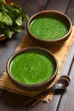 σπανάκι σούπας κρέμας Στοκ Φωτογραφίες