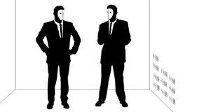 Σπασίματα χαρακτήρα σκιών μέσω της απαγορευμένης πόρτας απεικόνιση αποθεμάτων