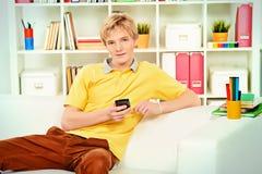 σπασιμάτων κλήσης καφέ τηλεφωνικός χρόνος γραφείων ημέρας σκληρός στην εργασία Στοκ Φωτογραφίες
