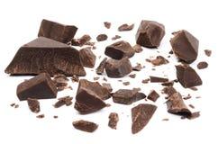 Σπασμένα ή ραγισμένα μέρη σοκολάτας στοκ φωτογραφία με δικαίωμα ελεύθερης χρήσης