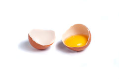 Σπασμένα αυγά κοτόπουλου Στοκ φωτογραφίες με δικαίωμα ελεύθερης χρήσης