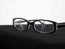 σπασμένα γυαλιά ματιών Στοκ Φωτογραφίες