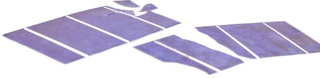 Σπασμένα ηλιακά κύτταρα Στοκ Εικόνες