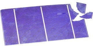 Σπασμένα ηλιακά κύτταρα Στοκ φωτογραφία με δικαίωμα ελεύθερης χρήσης