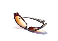 σπασμένα καφετιά γυαλιά η&la Στοκ Εικόνες