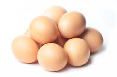 σπασμένα κιβώτιο αυγά αυγών κοτόπουλου μέσα στο λέκιθο Στοκ Φωτογραφίες