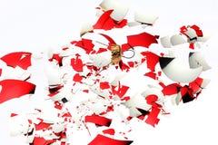 σπασμένα σφαίρα Χριστούγεννα Στοκ Εικόνα