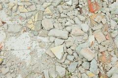 Σπασμένα τούβλα στο πάτωμα Στοκ φωτογραφία με δικαίωμα ελεύθερης χρήσης