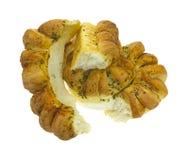 σπασμένα ψωμί κομμάτια φραντζολών σκόρδου που χωρίζονται Στοκ Εικόνα