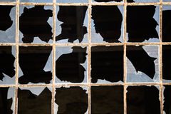 σπασμένα Windows Στοκ Εικόνα