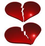σπασμένες καρδιές Στοκ φωτογραφία με δικαίωμα ελεύθερης χρήσης