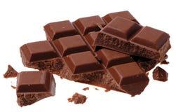 σπασμένες σοκολάτες Στοκ Φωτογραφίες