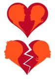 σπασμένη αγάπη καρδιών Στοκ Φωτογραφία