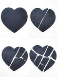 σπασμένη αγάπη καρδιών Στοκ εικόνα με δικαίωμα ελεύθερης χρήσης