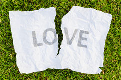σπασμένη αγάπη Στοκ Φωτογραφίες