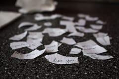 Σπασμένη επιστολή αγάπης Στοκ φωτογραφία με δικαίωμα ελεύθερης χρήσης