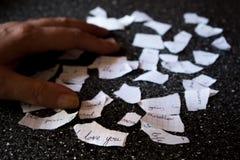 Σπασμένη επιστολή αγάπης Στοκ φωτογραφίες με δικαίωμα ελεύθερης χρήσης