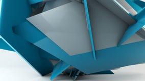 Σπασμένη κίνηση τοίχων, γεωμετρικός αφηρημένος μετασχηματισμός διανυσματική απεικόνιση