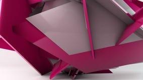 Σπασμένη κίνηση τοίχων, γεωμετρικός αφηρημένος μετασχηματισμός απεικόνιση αποθεμάτων